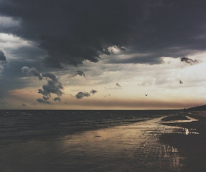 beach, summer, and clouds image