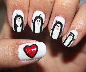 nails, heart, and penguin image