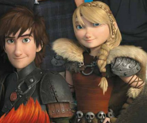 astrid, dreamworks, and hiccup image
