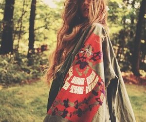 girl, hippie, and forest image