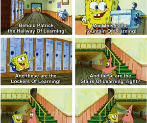 funny, learning, and patrick image