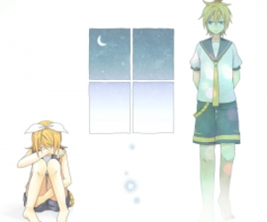 anime, vocaloid, and rin and len image