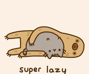pusheen, cat, and Lazy image