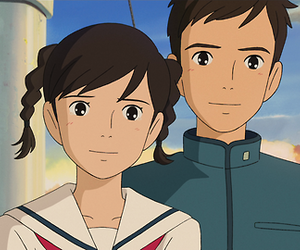 anime, couple, and from up on poppy hill image