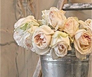 shabby chic and flowers image
