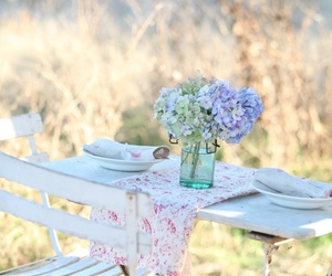 garden, table, and beaitiful image