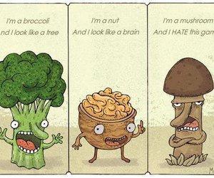 funny, walnut, and mushroom image