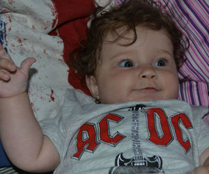 ac dc, baby, and rock image