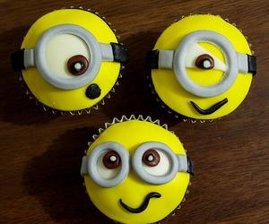 cupcake, minions, and food image