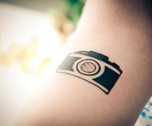camera, tattoo, and fotografia image