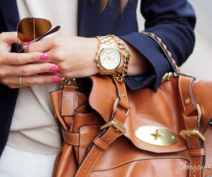 bag, watch, and style image