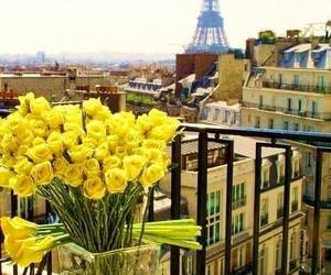 paris, flowers, and yellow image
