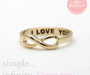 infinity, jewelry, and ring image