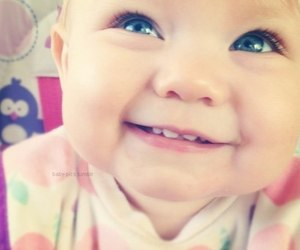 baby, smile, and blue eyes image