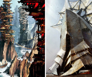 steampunk, painting, and daniel dociu image