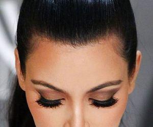 kim kardashian, makeup, and beauty image