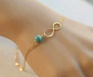infinity, bracelet, and gold image