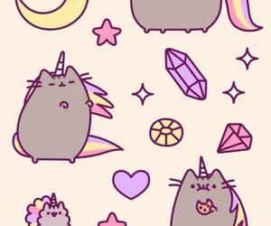 cat, unicorn, and pusheen image