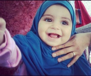 hijab, baby, and islam image