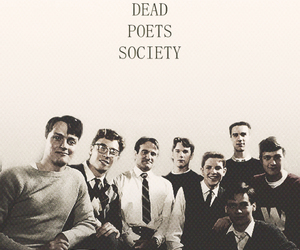 beautiful, black and white, and dead poets society image