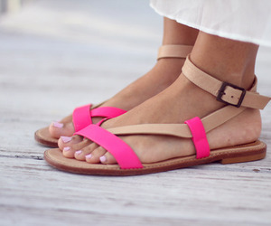 sandals, fashion, and pink image