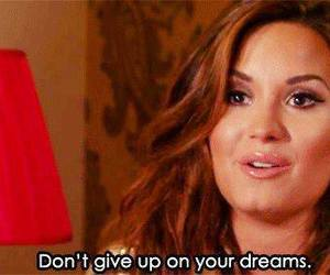 demi lovato, Dream, and quote image