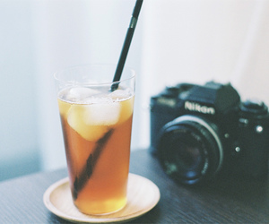 camera, photography, and drink image