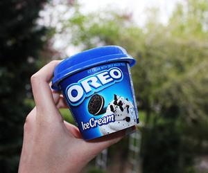 oreo, ice cream, and yum image