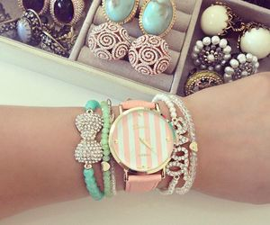 girly, watch, and bracelet image