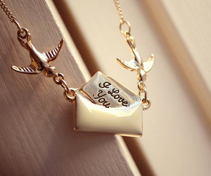 love, necklace, and I Love You image