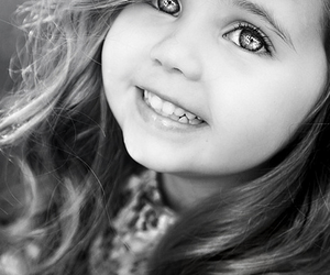 adorable, beauty, and black and white image