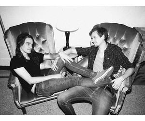 the maine, black and white, and pat image