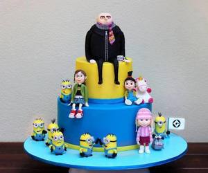 minions, cake, and despicable me image