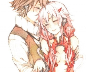 anime, couple, and guilty crown image