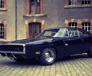 black, car, and dodge charger image