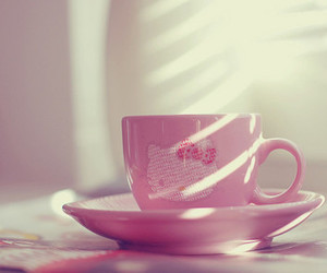 hello kitty, pink, and cup image