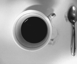 black & white, @vjrojas, and coffee image