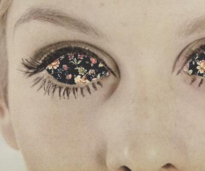 eyes, flowers, and twiggy image