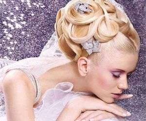 beauty, blonde hair, and braided hair image