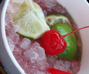 cherry, drink, and lime image