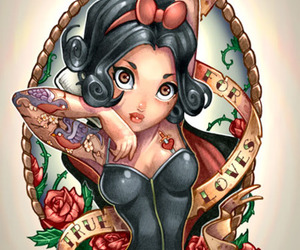 snow white, disney, and tattoo image