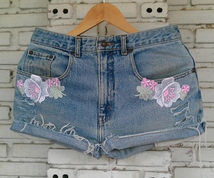 denim shorts, cut off jeans, and shorts image