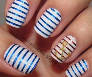 nails, nail art, and blue image