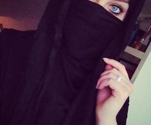 hijab, niqab, and eyes image