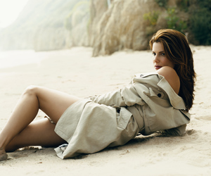 actress, beach, and beauty image