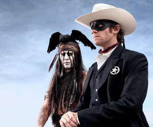johnny depp, armie hammer, and the lone ranger image