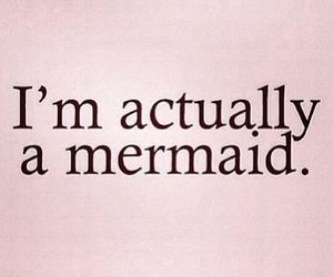 mermaid, funny, and pink image