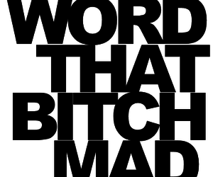 bitch, mad, and word image