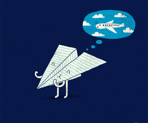 Dream, airplane, and Paper image