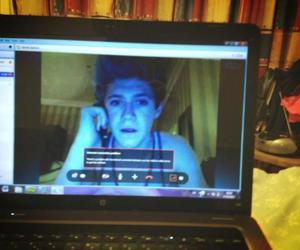 one direction, niall horan, and skype image